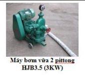 Máy bơm vữa 2 pittong HJB3.5 (3KW)