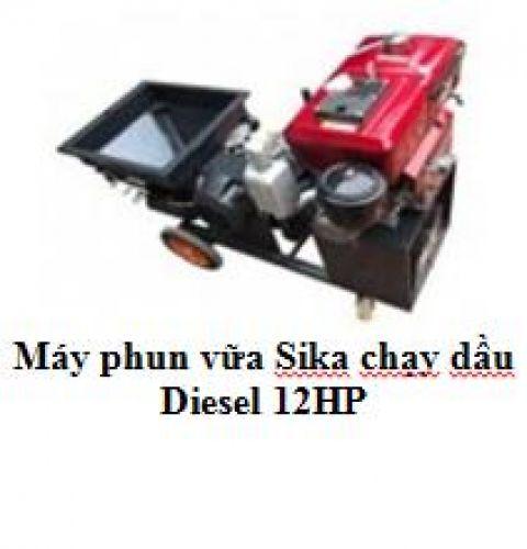 Máy phun vữa Sika chạy dầu Diesel 12HP
