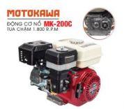Động cơ nổ  6.5HP Motokawa MK-200C (trắng đỏ)