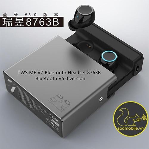 Tai Nghe Blutooth kiêm sạc dự phòng TWSME V7 True Wireless v5.0