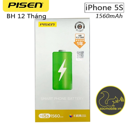 Thay Pin iPhone 5S - Pisen
