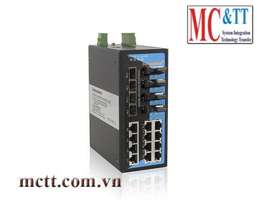Switch công nghiệp quản lý 16 cổng Ethernet + 4 cổng quang SFP 3onedata IES7120-4GS