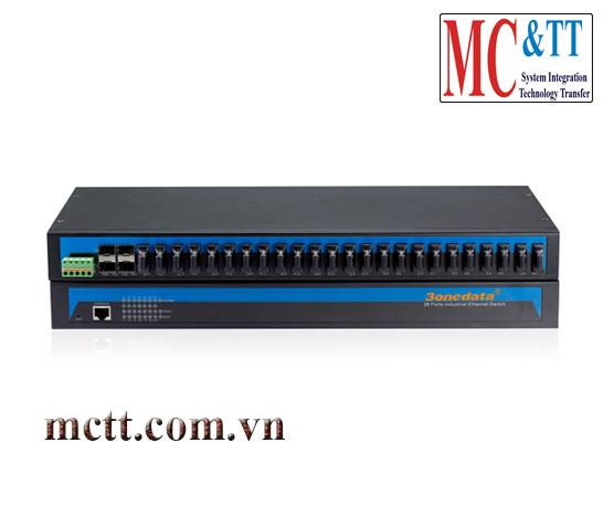 Switch công nghiệp quản lý 24 cổng quang + 4 cổng quang SFP 3onedata IES5028-4GS-24F