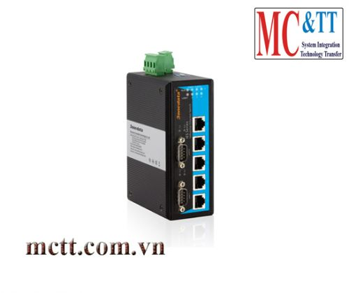 Switch công nghiệp 5 cổng Ethernet + 2 cổng RS232 3Onedata IES615-2D(RS-232)