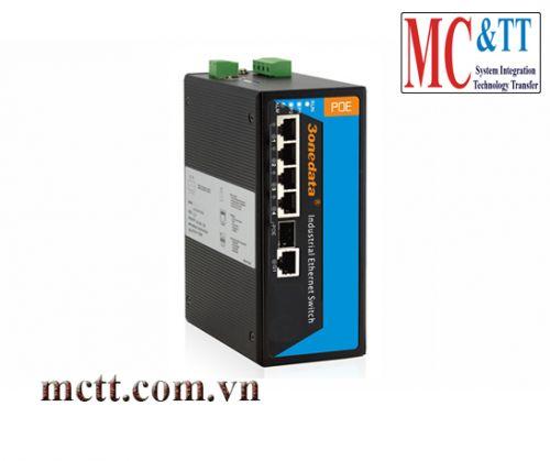 Switch công nghiệp quản lý 4 cổng PoE Ethernet + 1 cổng Combo SFP 3Onedata IPS715-1GC-4POE