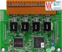 Board 2 cổng RS-232 với 4 kênh đầu vào sô và 4 kênh đầu ra số CIP DAS XW509