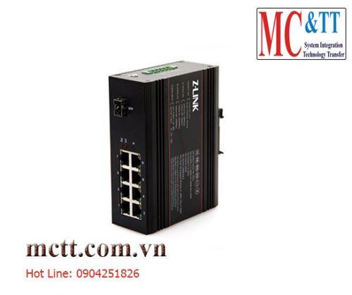Switch công nghiệp POE 8 cổng ethernet + 1 cổng quang SFP Z-link Z-IES-1GX8TP-SFP