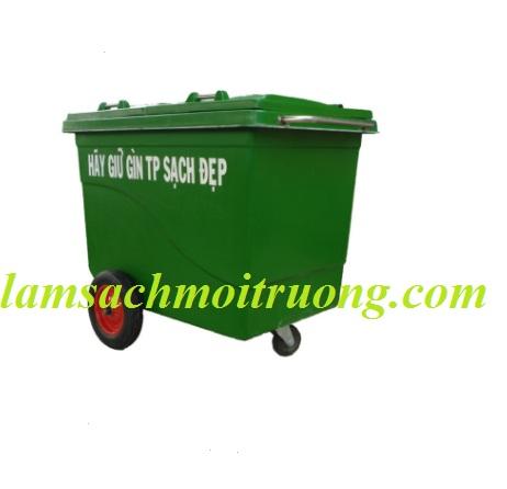 Thùng Rác Composite 660 Lít- 3 Bánh Xe