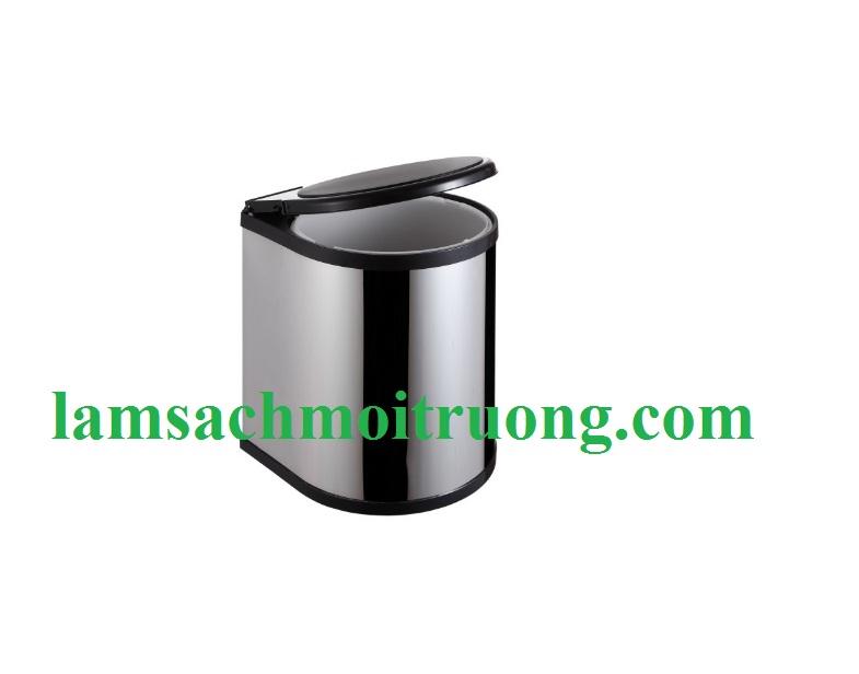 Thùng rác INOX tủ bếp nắp xoay BSB01/ 8 lít
