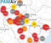 """Vì sao chỉ số cảnh báo ô nhiễm không khí """"đỏ rực"""" cả miền Bắc?"""
