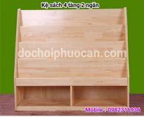 Kệ sách gỗ thông ks3 PA3319