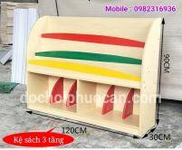 Kệ sách gỗ thông ks4 PA3320