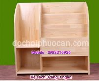 Kệ sách gỗ thông ks6 PA3322