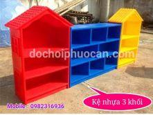Kệ ghép 3 khối bằng nhựa PA3719