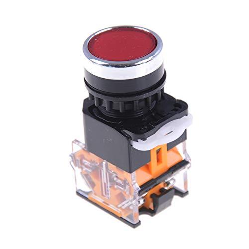 Công tắc nhấn giữ , công tắc nhấn nhả LA38 - 11 BN màu đỏ
