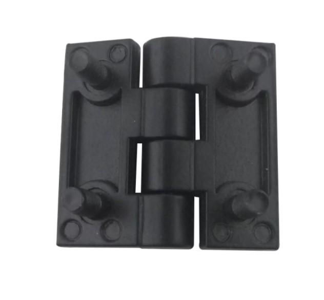 Bản lề cửa liền vít 40mm x 40mm , bản lề liền vít hợp kim kẽm , bản lề liền vít màu đen 40x40