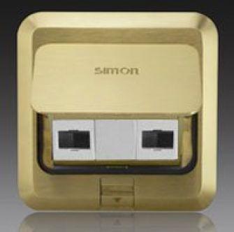 Ổ cắm âm sàn Simon 1 ổ điện thoại, 1 dữ liệu