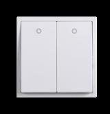 Công tắc đôi 2 chiều có đèn LED – 10A