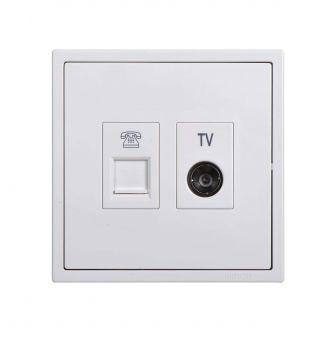 Ổ cắm TV và dữ liệu Cat5e - 705302