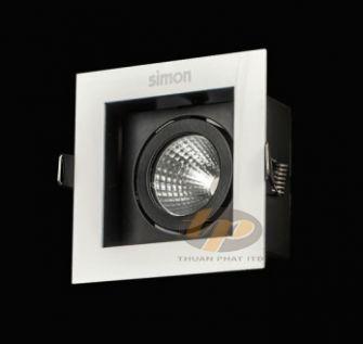 Đèn led spotlight vuông đơn ánh sáng trắng 9W N0424-0041
