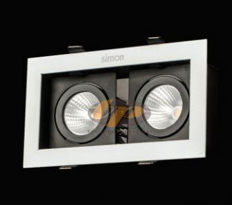 Đèn led spotlight vuông âm trần ánh sáng trắng 18W N64E0-0044
