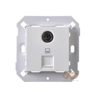 Ổ cắm TV và ổ cắm dữ liệu RJ45 Cat6 80492