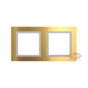 Khung viền đôi kim loại màu vàng Simon V8 80821-48