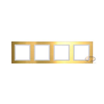 Khung viền bốn kim loại màu vàng series V8 80841-48
