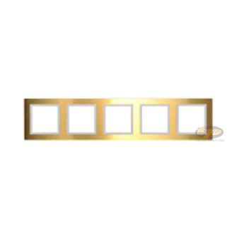 Khung viền năm kim loại màu vàng series V8 80851-48