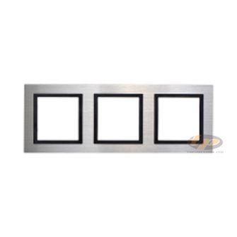 Khung viền ba kim loại màu bạc V8 Simon 80831-42