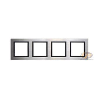 Khung viền bốn kim loại màu bạc V8 Simon 80841-42