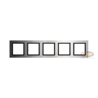 Khung viền năm kim loại màu bạc V8 Simon 80851-42