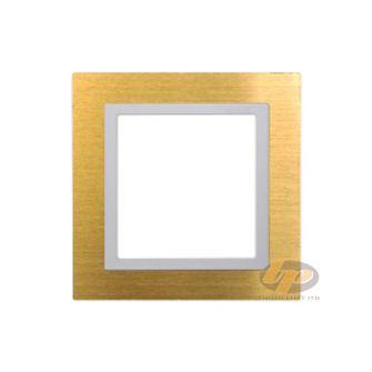 Khung viền đơn kim loại màu vàng Simon V8 80811-48