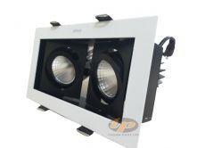 Đèn led spotlight âm trần vuông đôi 18W N64E0-0042