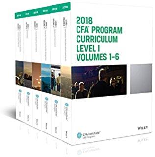 CFA 2018 Curriculum 12 quyển  Level1