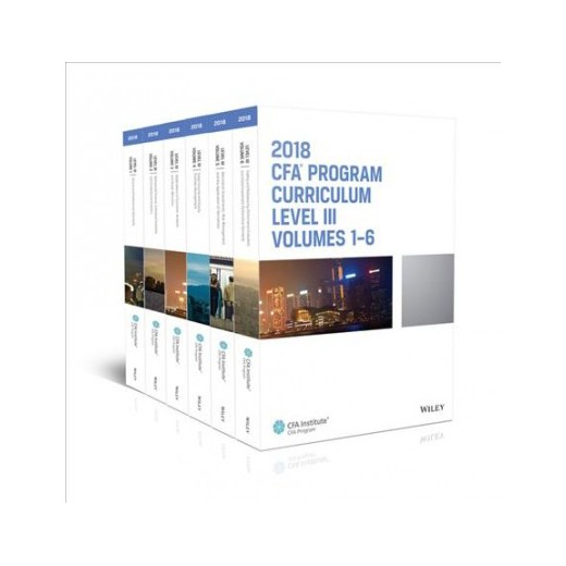 CFA 2018 Curriculum 8 quyển Level3