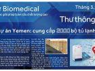 Dự án cung cấp 2000 tủ bảo quản vắc-xin Haier tại Yemen