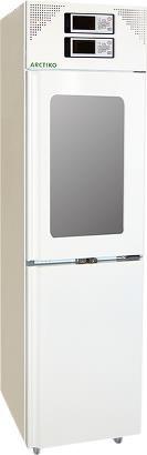Tủ lạnh combi, 2 dải nhiệt độ, cửa kính buồng mát, 161/161 lít LFFG 270 ARCTIKO