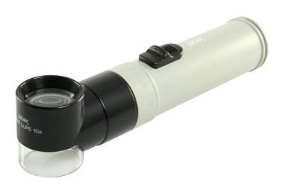 Kính lúp có tay cầm Peak Lupe phóng đại 10X, có đèn chiếu sáng 1966-10X