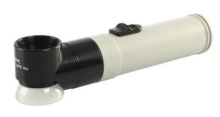 Kính lúp có tay cầm Peak Lupe phóng đại 15X, có đèn chiếu sáng 2023-15X