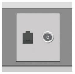 Ổ cắm mạng + TV ArtDNA