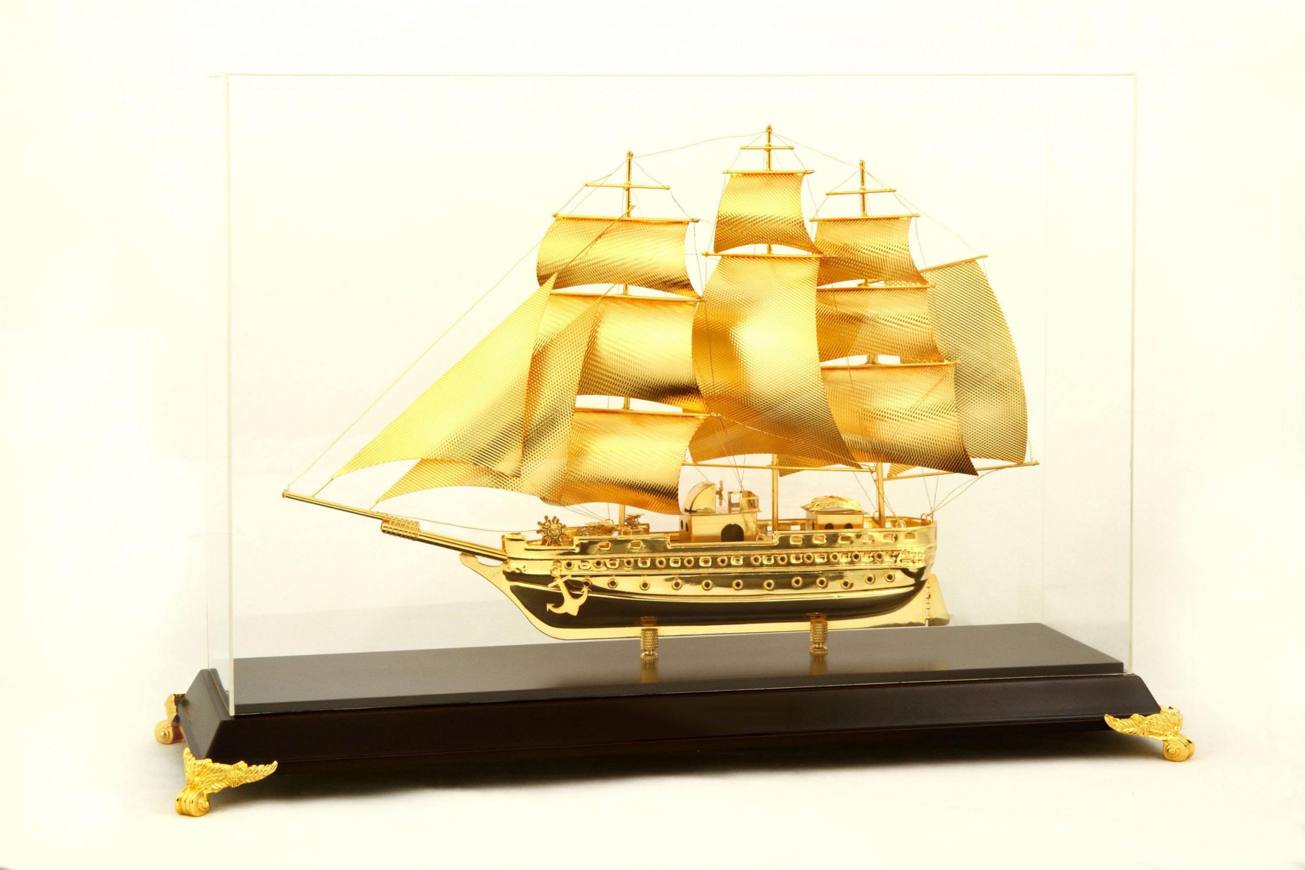 Thuyền Buồm Mạ Vàng 24K NSS-53GP