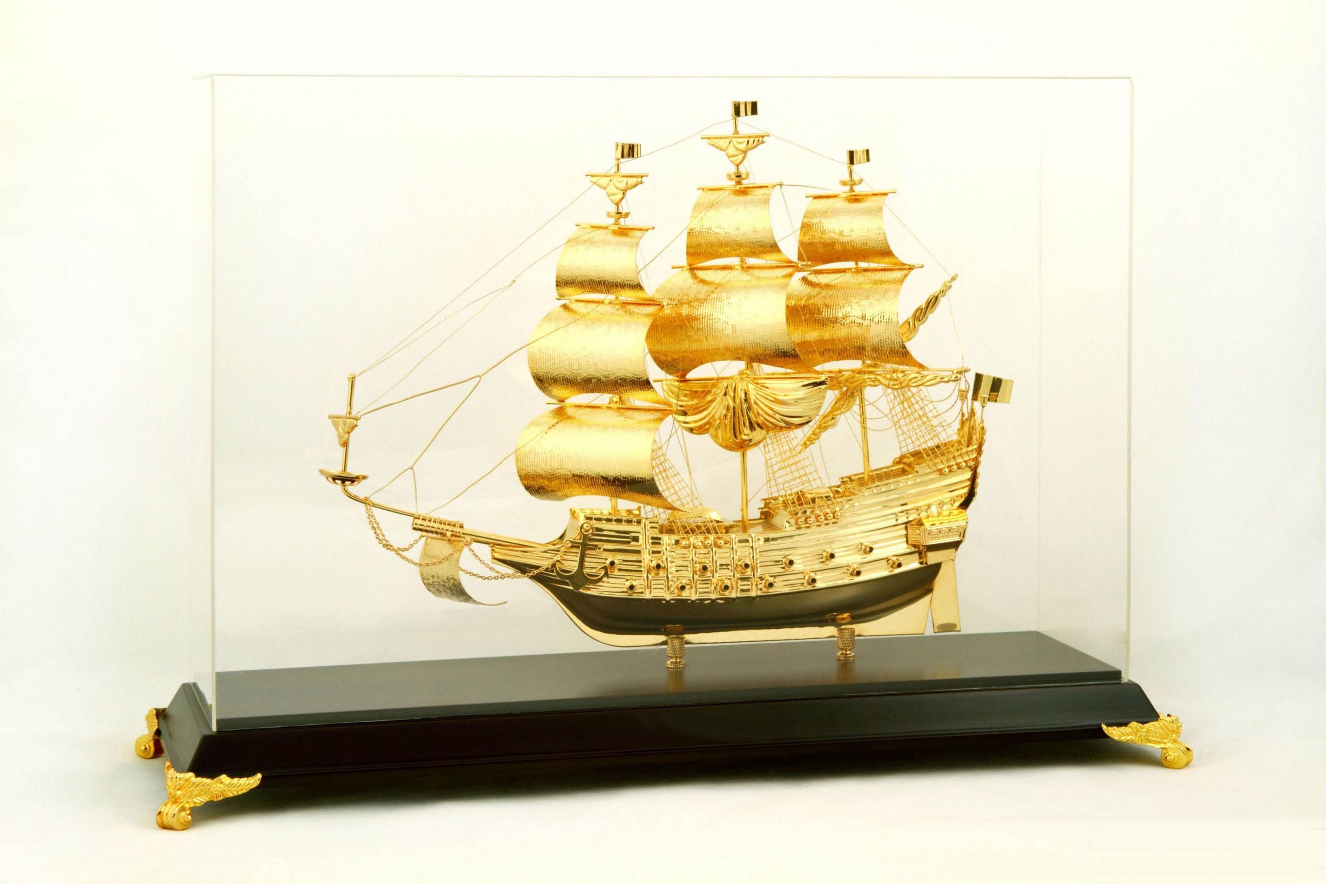 Thuyền Buồm Mạ Vàng 24k NSS-47GP
