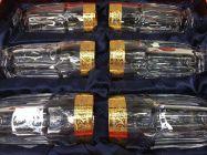 Bộ 6 cốc pha lê khảm vàng 24K viền hoa CC01