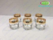 Bộ 6 cốc khảm vàng 24K CKV05