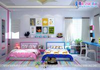 Phòng ngủ cho bé trai và bé gái trong không gian phòng ngủ - BBP142