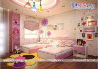 Phòng ngủ cho bé gái trong không gian rộng - BBP140