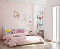 Phòng ngủ cho bé gái màu hồng sinh động - BBP137