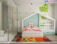 Nội Thất phòng ngủ công chúa cho bé gái cực kỳ xinh xắn - BBP136