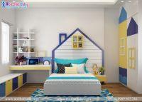 Tạo hình độc đáo,phối màu sôi nổi năng động cho không gian phòng ngủ bé trai - BBT31